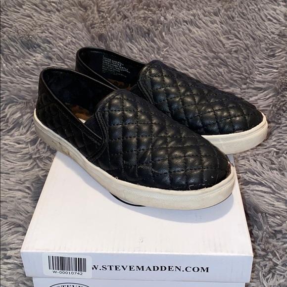 Girls Ecntrcq Black Slip Ons Size
